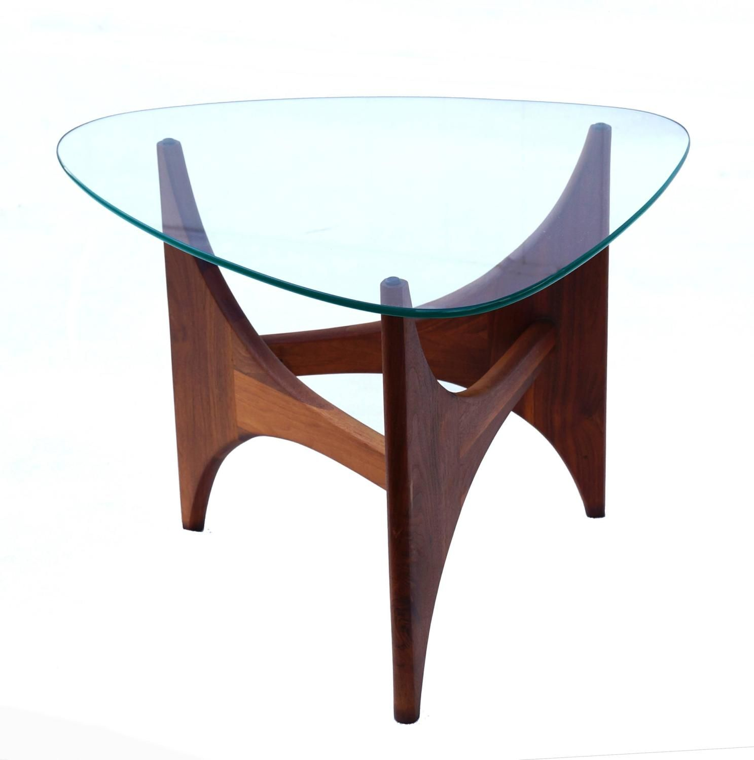 Adrian Pearsall Mid Century Modern Side End Glass Top Table Glass Top Table Glass Top Table [ 1500 x 1487 Pixel ]