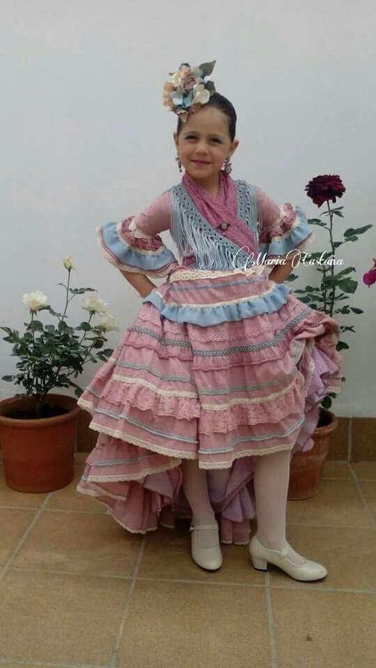 Maria Castaña 2016 Traje Flamenca Niña Moda Flamenca Vestidos De Flamenca