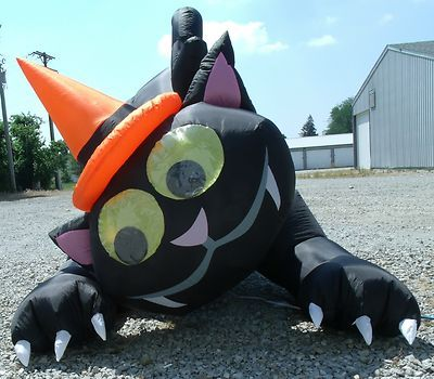 6 Foot Gemmy Halloween Airblown Inflatable Antimated Black