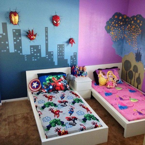 Quartos infantis para um casal de irmaos menino e menina2 - Boy and girl shared room ...