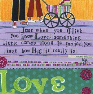 The perfect card to give to an expecting or new couple!!! Curly Girl Greeting Card- Love is Big