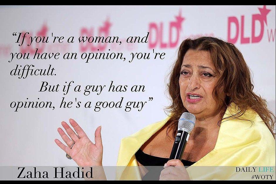 Zaha Hadid.   Words   Pinterest   Zaha hadid and Inspirational