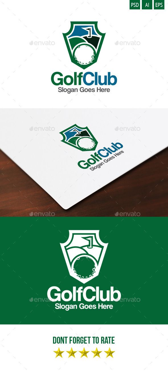 Golf Club Logo Golf clubs, Logos and Vector format - club card design
