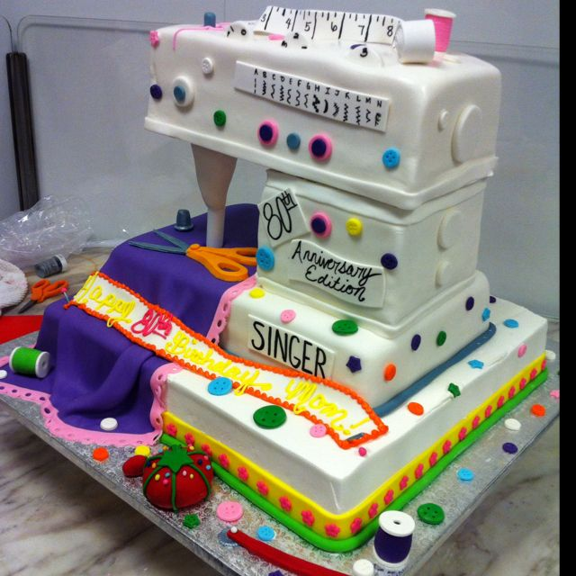 Sewing Machine Cake | Cakes | Pinterest | Sewing Machine Cake Cake And Themed Cakes