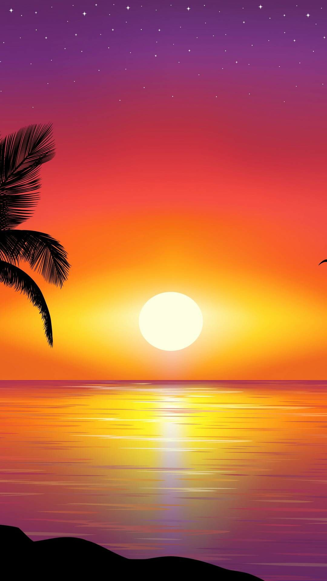 Sun Saved By Sriram Sunset Pictures Beautiful Nature Wallpaper Ocean Painting