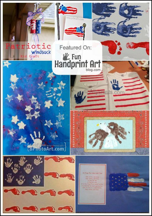 Patriotic Handprint Crafts For The 4th Of July Handprint Art