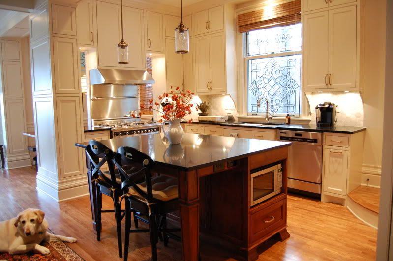 Benjamin moore natural wicker bone white cabinet color for Bone white kitchen cabinets