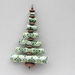 Paper Roll Christmas Trees | thecraftysisters