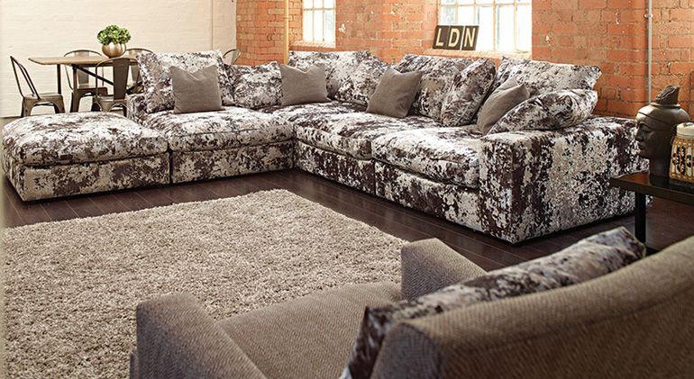 the cube 'merlin'  ashley manor  glam living room decor