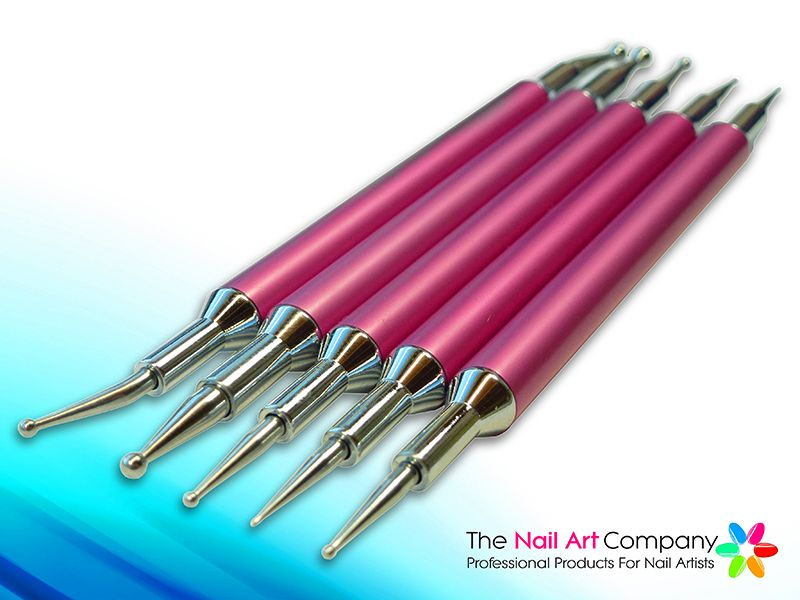 Professional Nail Art Dotting Tool Kit Pink Professional Nail