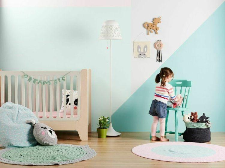 Good Babyzimmer im skandinavischen Stil mit gr nen W nden