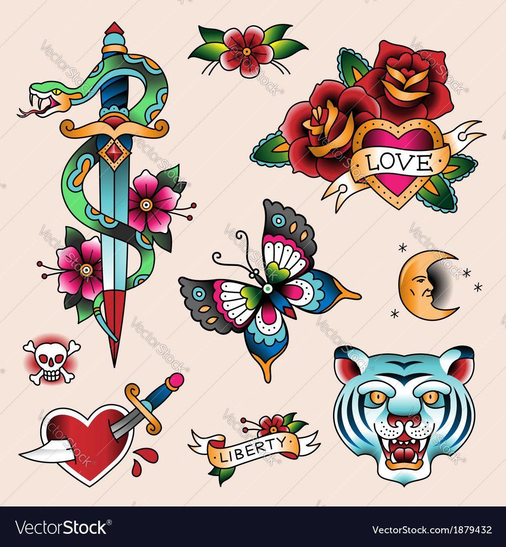 Tattoo love vector image on VectorStock