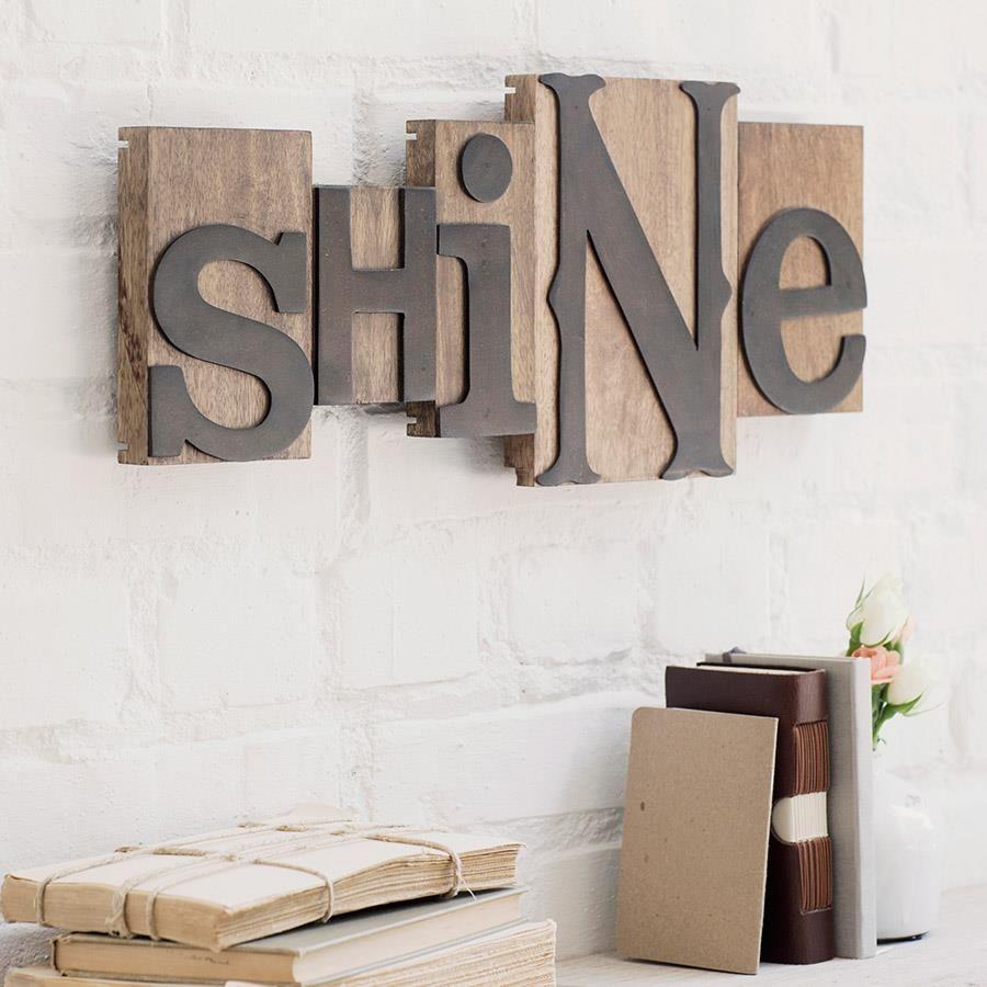 Decorating Shine Letterpress Block Set WordsMatter