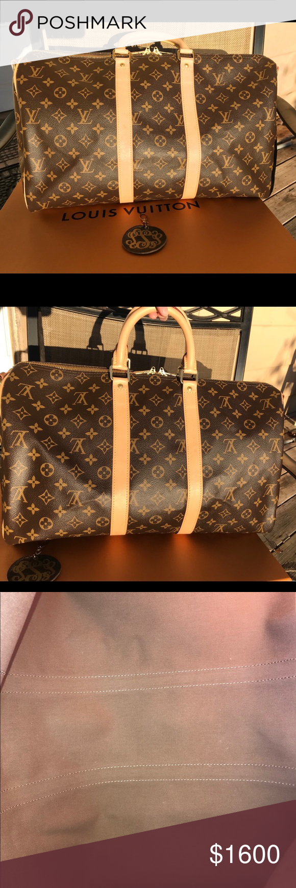 27cc897049c Authentic Louis Vuitton Keepall Bandouliere 45 Excellent condition - new  handles (from LV)