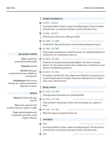 modern resume templates 52 classic samples with a modern twist - Modern Resume Sample