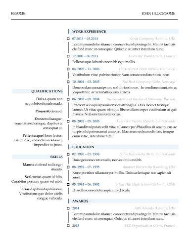 ModernCheck Box  Resume Templates    Check Box