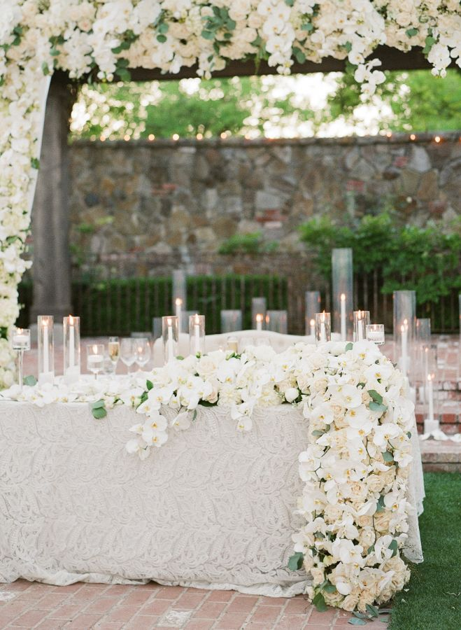 All White Vineyard Wedding With A Touch Of Glam White Wedding Flowers Vineyard Wedding Wedding