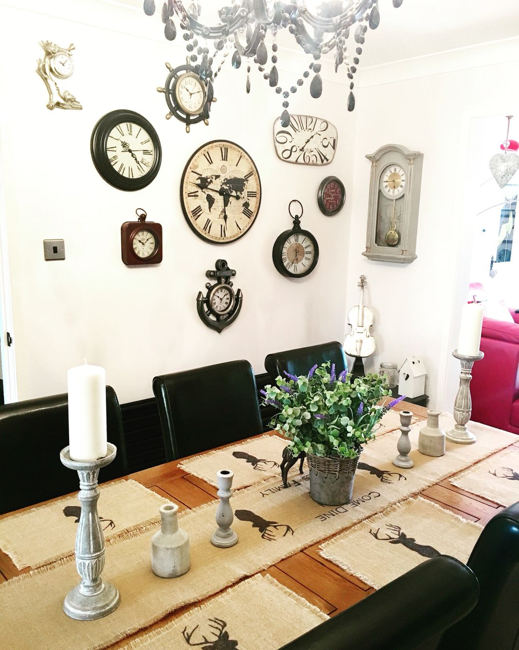 My Funky Clock Wall In My Dining Room  My Modest Home In England Stunning Funky Dining Room Design Decoration