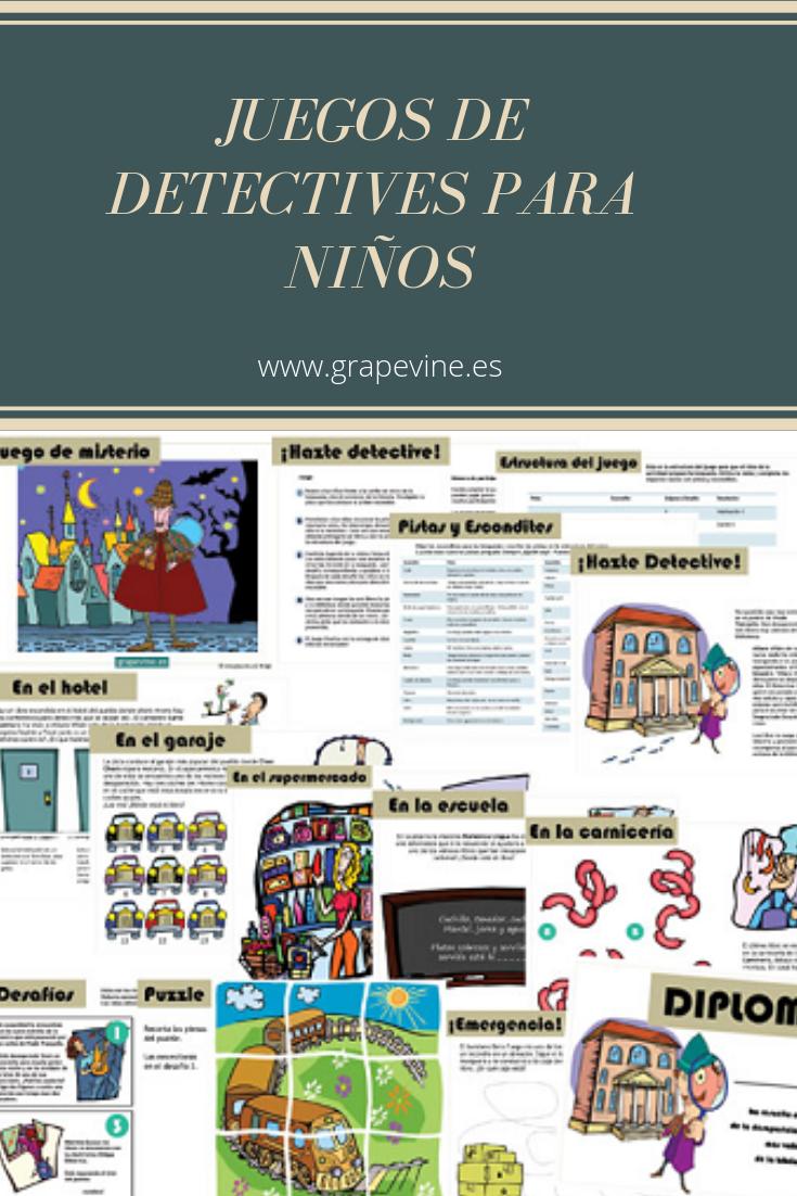 Juegos De Detectives Para Niños Juegos De Misterio Estaciones De Aprendizaje Juegos