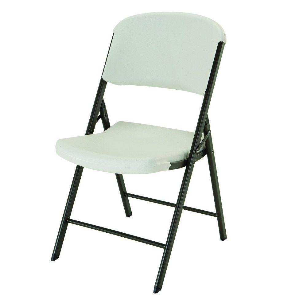 Lifetime Almond Plastic Seat Outdoor Safe Plastic Folding Chair
