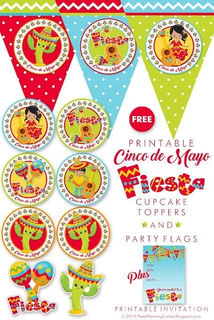 FREE Printable Cinco de Mayo Mexican Fiesta Party ...