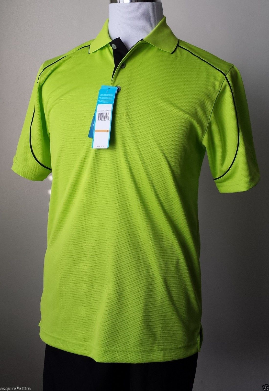 PGA TOUR men size S GOLF #shirt Green Color Short Sleeves $55 NWT POLO Style visit our ebay store at  http://stores.ebay.com/esquirestore