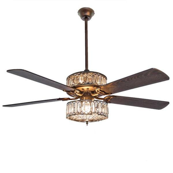 River Of Goods Duchess 52 In Clear Crystal Led Ceiling Fan With Light 20060 The Home Depot In 2020 Ceiling Fan Ceiling Fan With Light Led Ceiling Fan