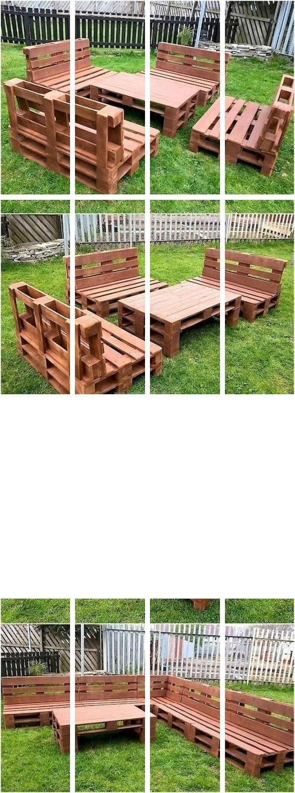 Pallet Rustic Furniture   Euro Pallet Size   How To Make ...