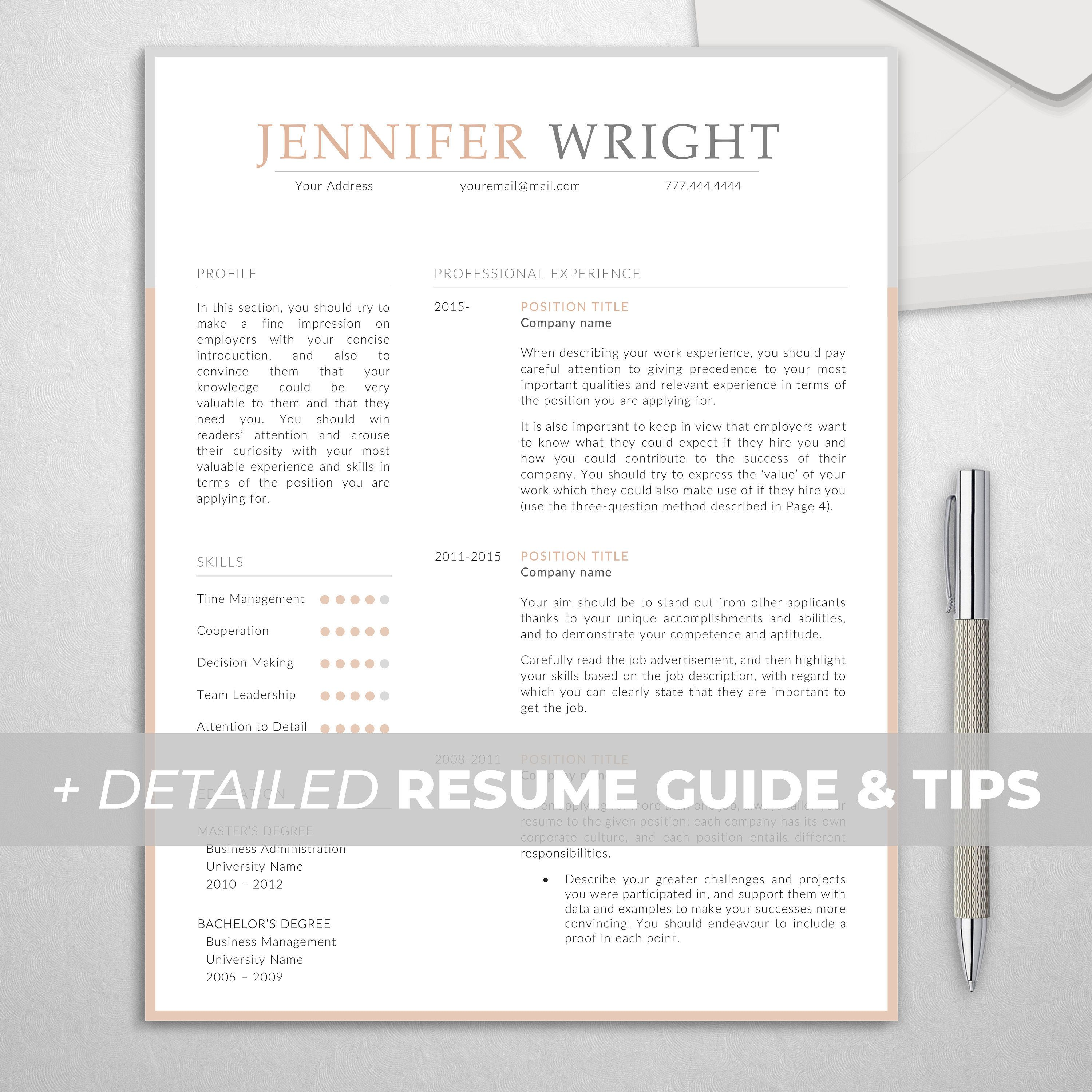 Elementary teacher resume template for word creative and