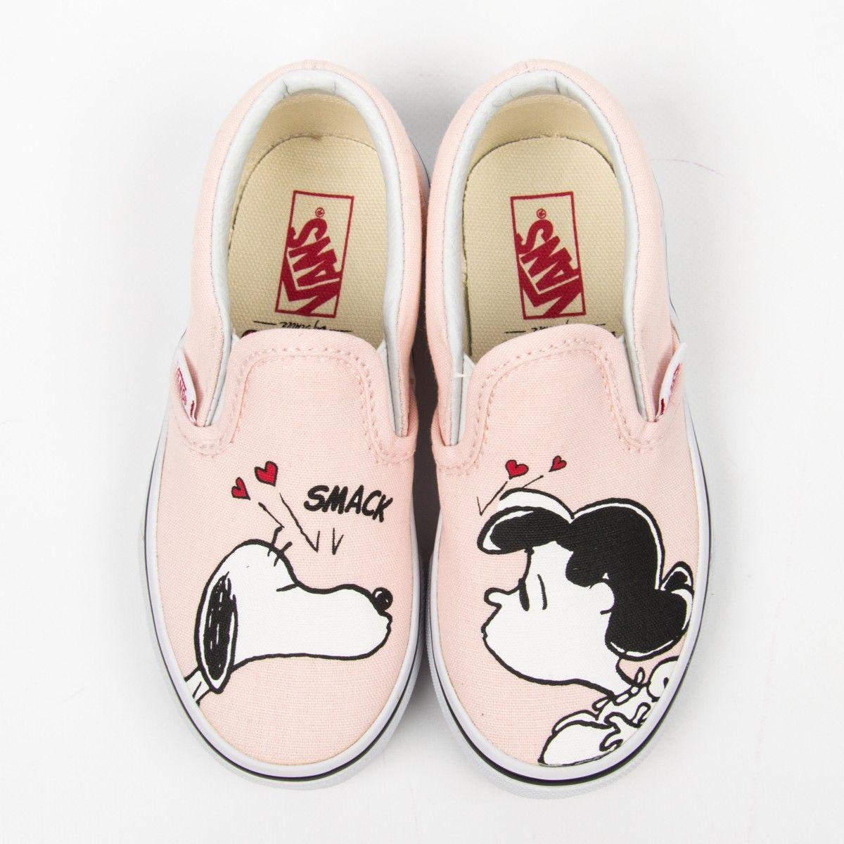 "Vans ""Classic Slip-On"" rosa Sneakers mit Snoopy-Print"