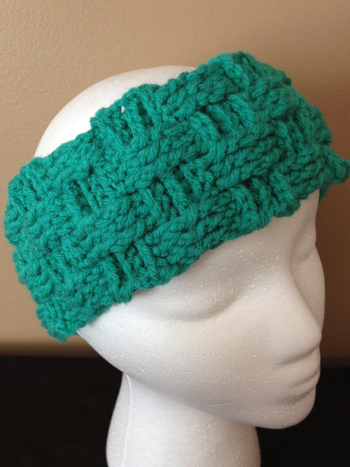 my crocheted world: basket weave ear warmer free pattern