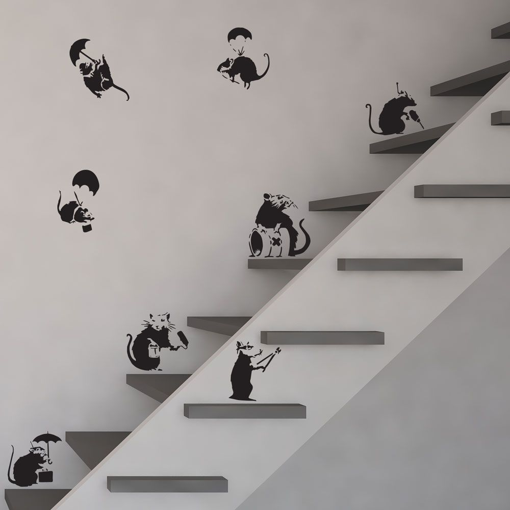 Vinyl Wall Art banksy rats vinyl wall art decal | vinyl revolution pack | banksy