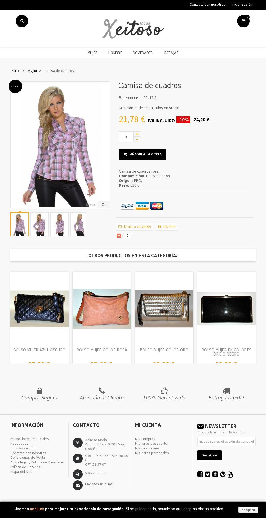 Camisas de cuadros, moda mujer, compras online en España