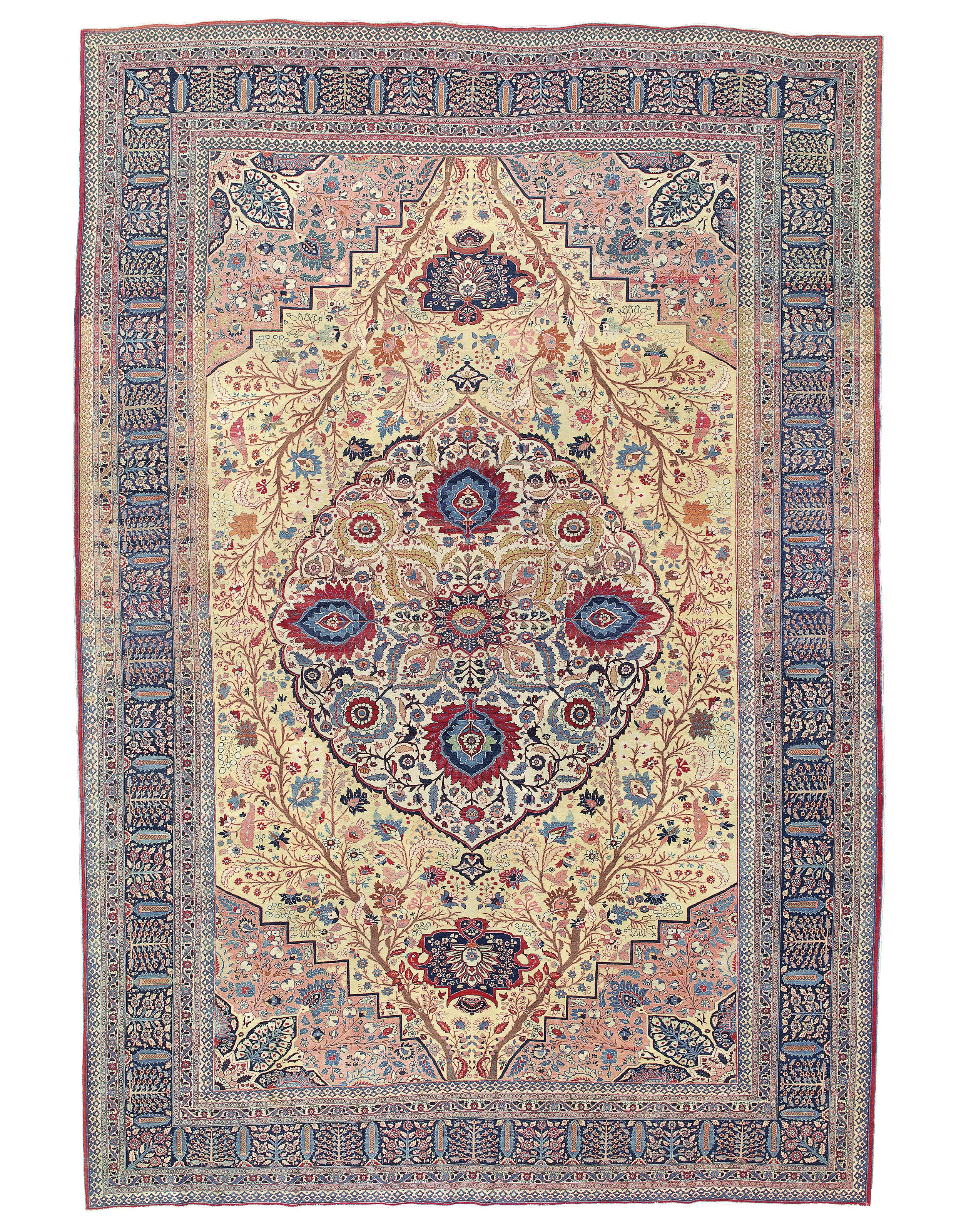 Tabriz Carpet Probably From The Workshop Of Hadji Jalili North West Persia Circa 1890 15ft 3in X 10ft 2in Rugs On Carpet Persian Carpet Patterned Carpet