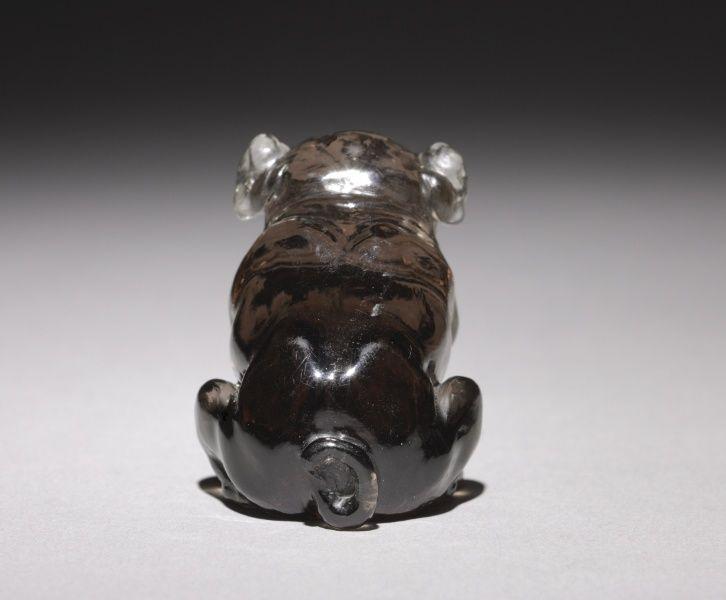 Bulldog, late 1800s-early 1900s firm of Peter Carl Fabergé (Russian, 1846-1920) amethystine quartz, diamonds