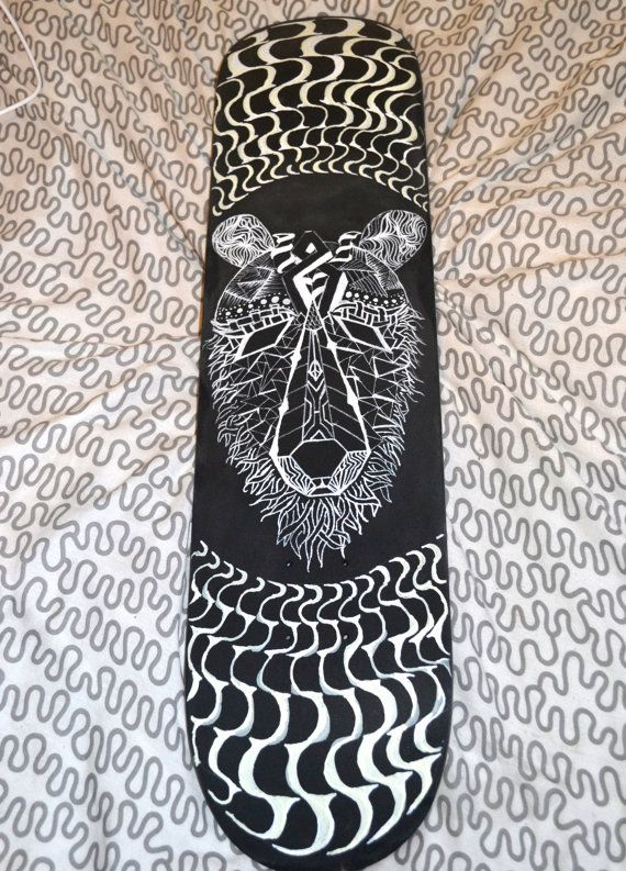 skateboard deck with bear design - Skateboard Design Ideas