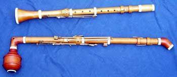 Top: Baroque Clarinet- bottom: T.Lotz Bassethorn, A=430Hz, Bassetnotes diatonic