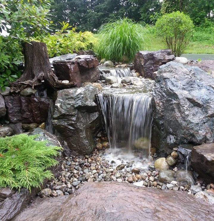 Backyard Ponds Builders In Kochi: Disappearing-Pondless-Landscape Waterfall Construction And