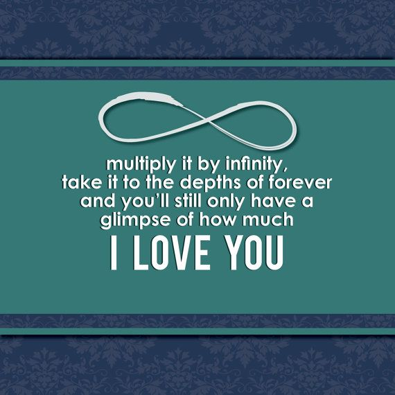 Infinity Quotes Impressive I Love You Infinity Forever Wall Art Quote For Mother Boyfriend .