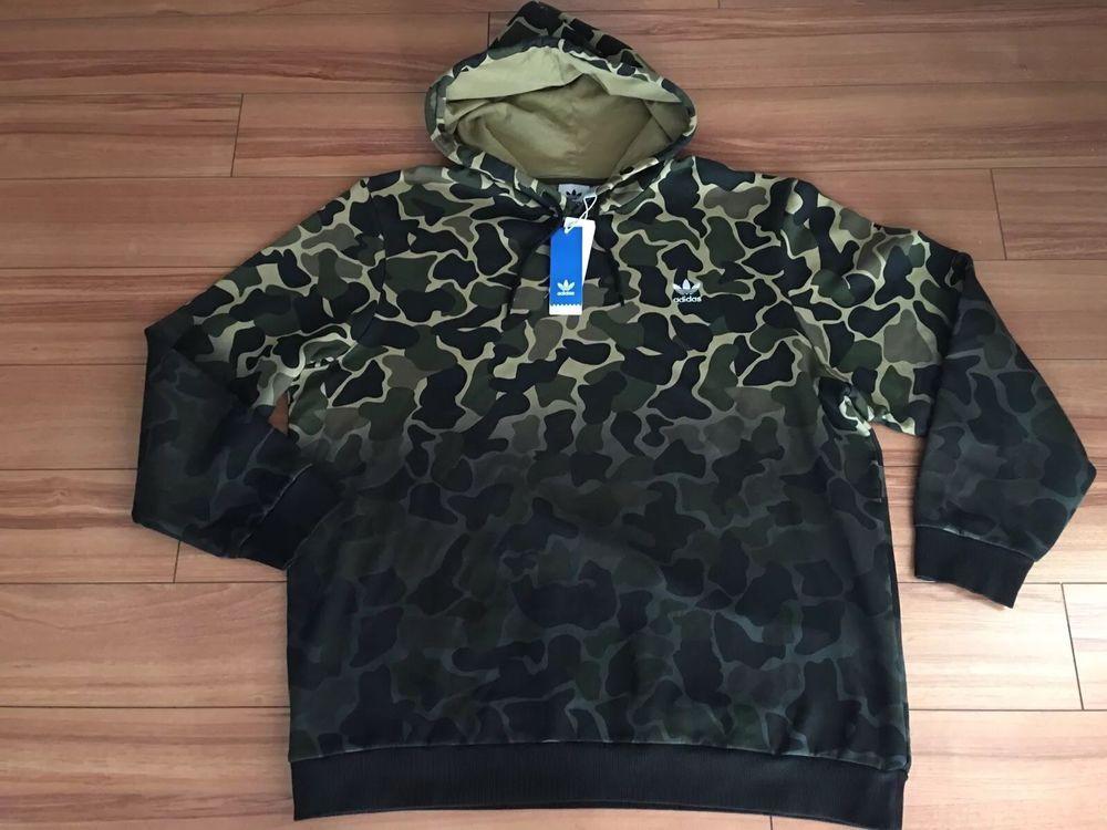 Adidas Originals Camo Hoodie Pullover Sweater Size XL