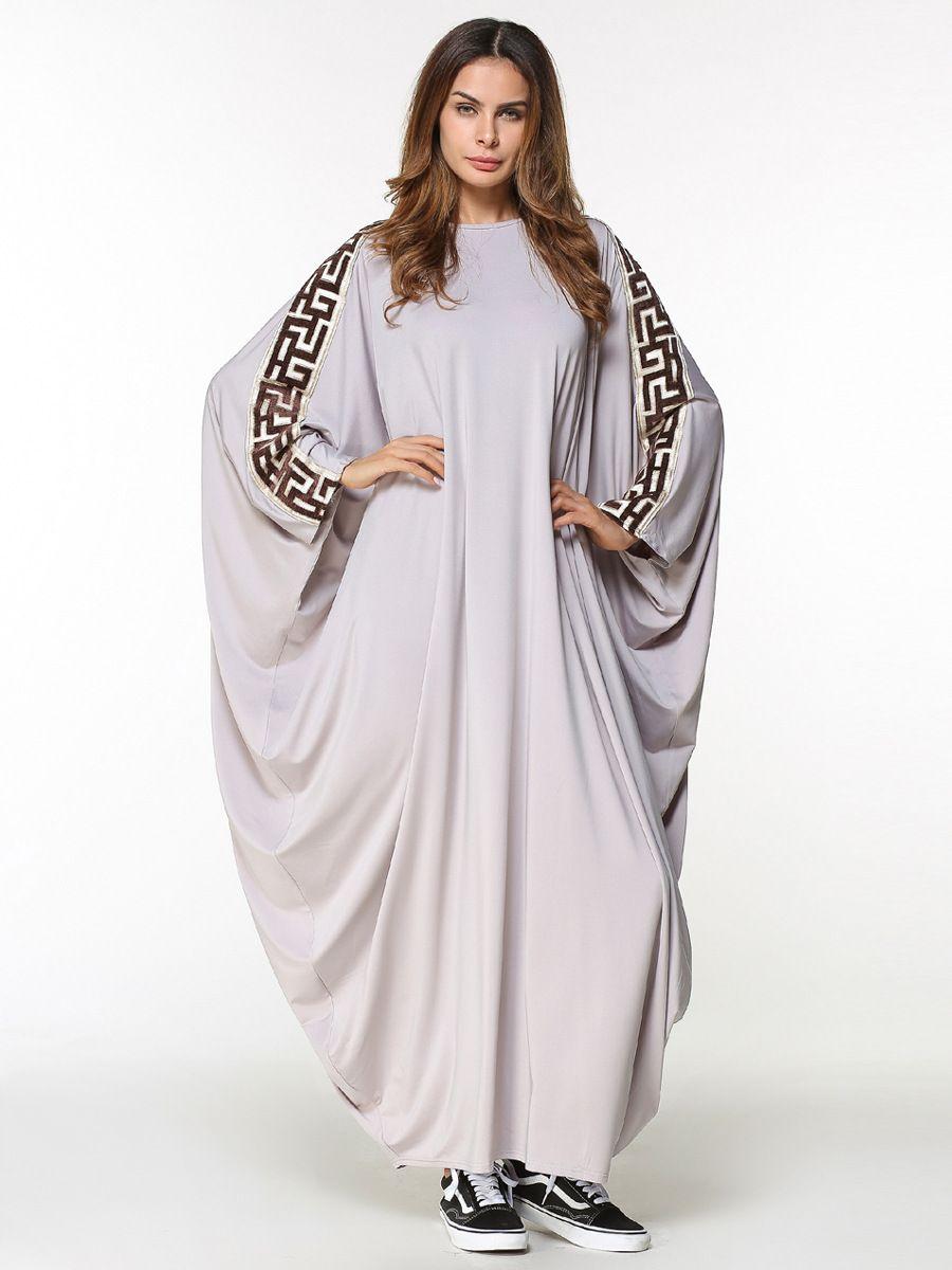 97760c9f90a3b Muslim Abaya Women's Maxi Dress Embroidery Plus Size Free Style ...