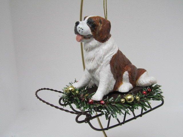 St. Bernard Dog Christmas Ornament