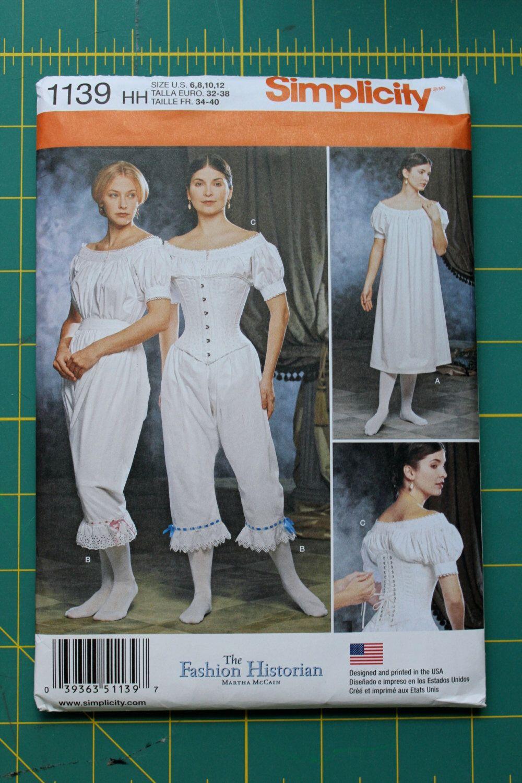 Muster-Abverkauf! Historischen Kostüm Muster - Einfachheit 1139 und ...