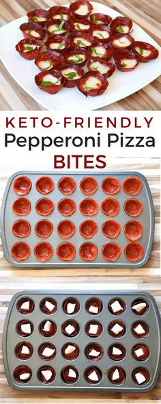 Keto Pepperoni Pizza Bites #kochenundbacken