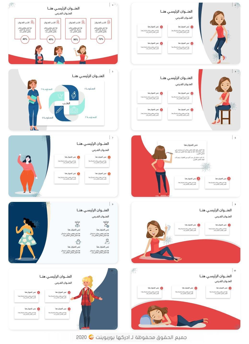 مؤنث قالب بوربوينت عربي عن المرأة جاهز للتعديل عليه ادركها بوربوينت Scientific Poster Design Scientific Poster Book Cover Design Template