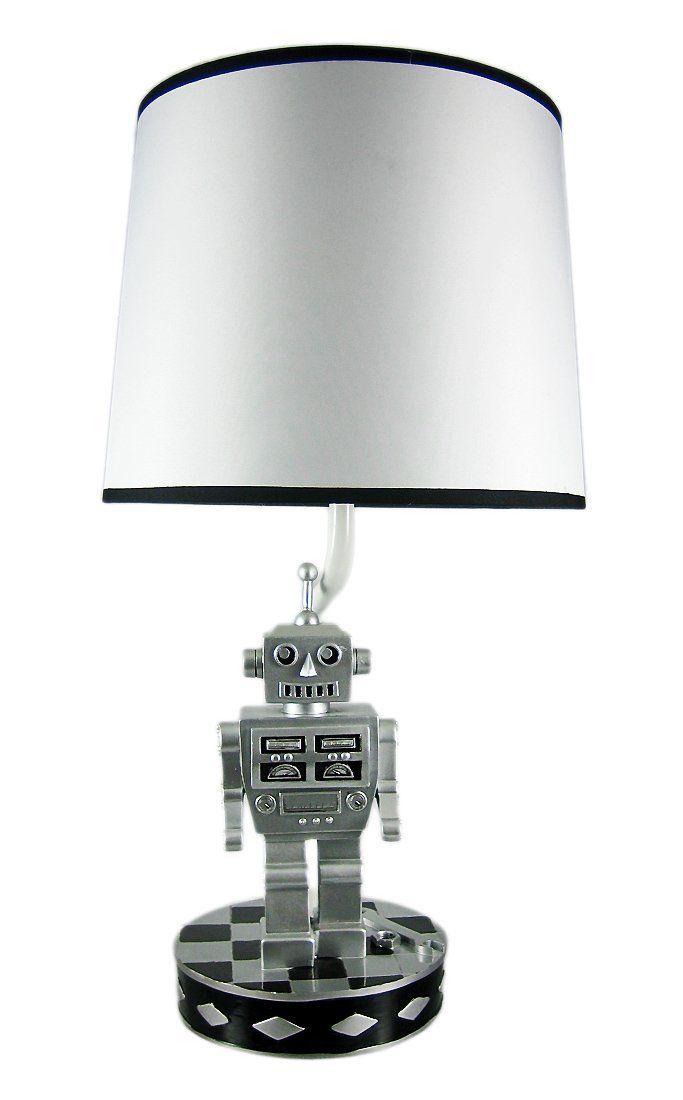 Retro 60's Style Robot Table Lamp Sci Fi Robotic. #lamp