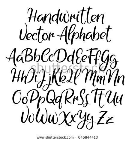 Hand Lettering Alphabet For Your Design Wedding Calligraphy Logo Slogan Window Decor Postcard Greeting Card