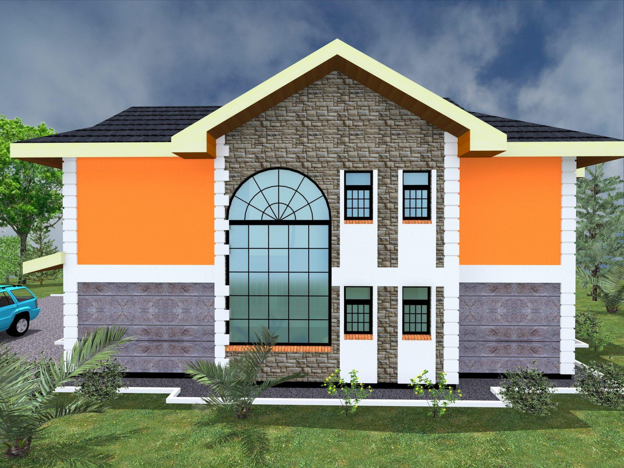 4 Bedroom Maisonette House Plans In Kenya Hpd Consult House House Styles House Design