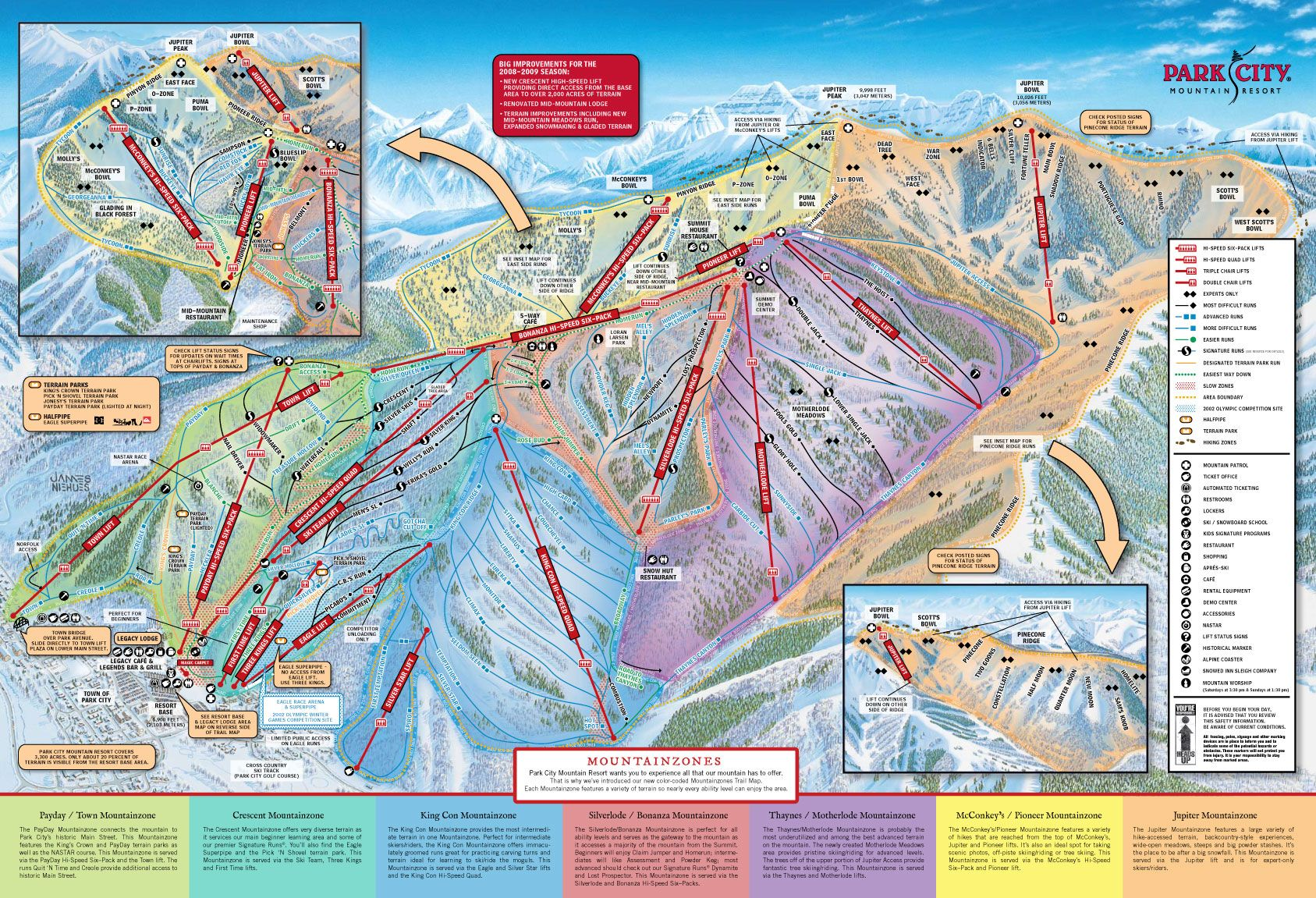 Canyons Trail Map Park City Utah Park City Mountain Park City Skiing Park City Trail Map