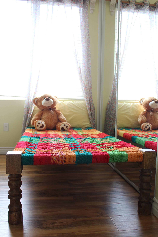Modern Rope Bed Indian Vintage Furniture Charpoy